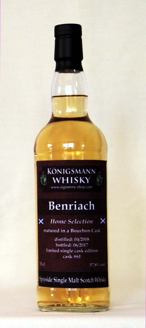 Benriach 2008/2017 Single Cask , 57,8%vol., 0,7l