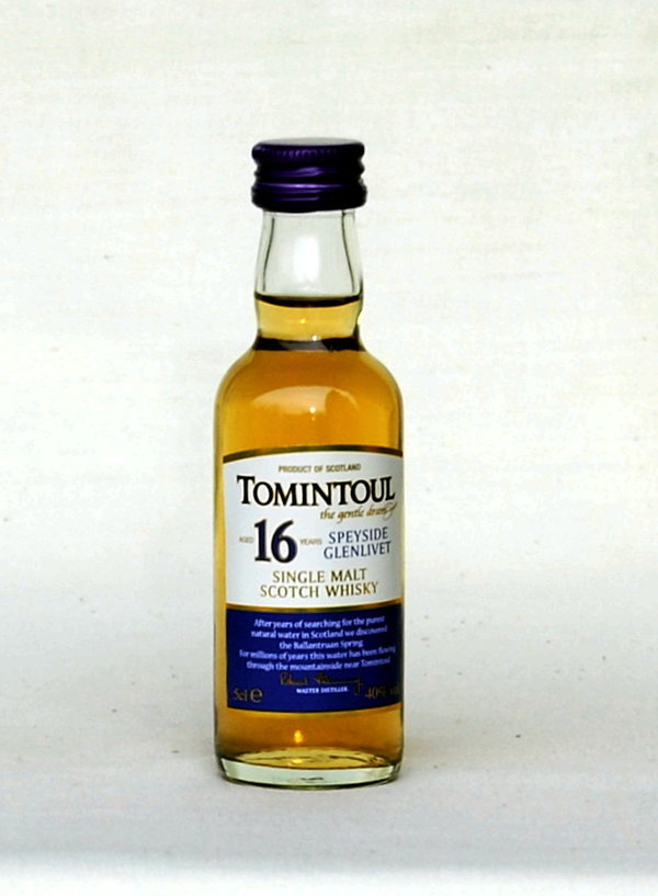 Tomintoul 16 Jahre, Single Malt, Schottland, 40%vol., 0,05l