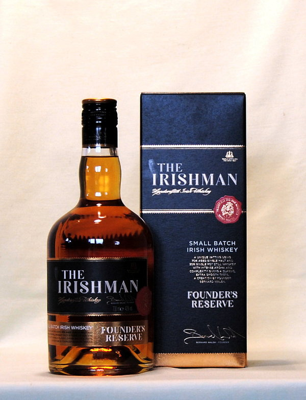 The Irishman Founders Reserve, Irish Whiskey, 40%vol., 0,7l