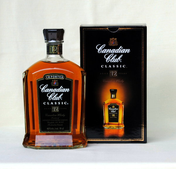 Canadian Club 12 Jahre Classic , Blended Whisky, Kanada, 40%vol. , 0,7l