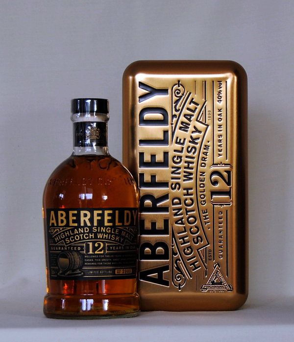Aberfeldy 12 Jahre, Single Malt, Schottland, 40%vol., 0,7l, in Metallbox
