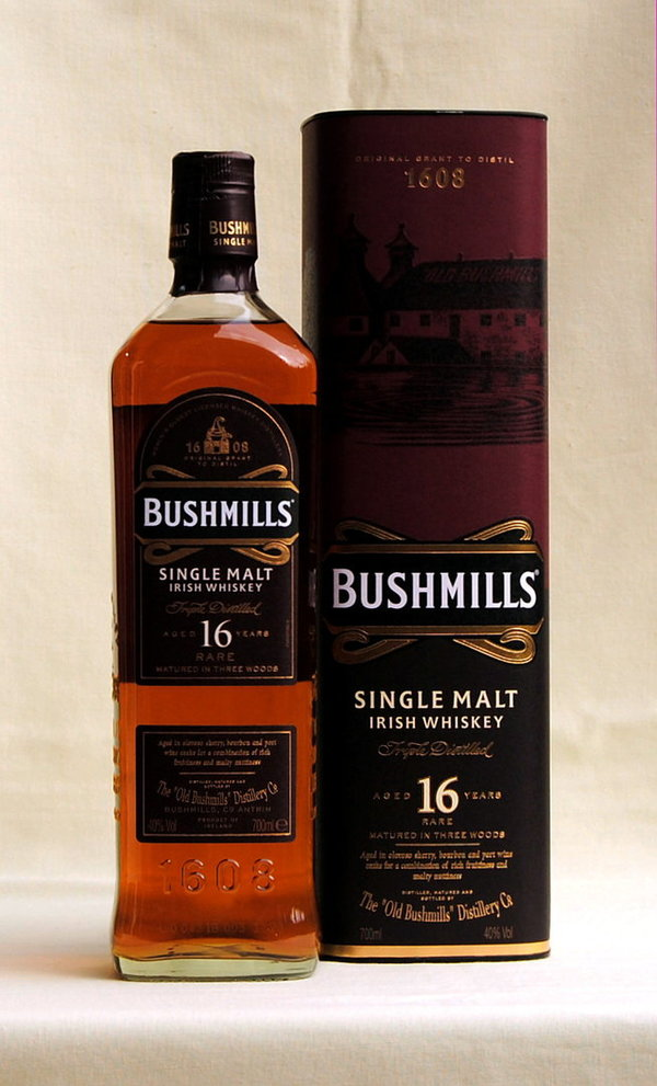 Bushmills 16 Jahre, Single Malt, Nordirland, 40%vol. , 0,7l
